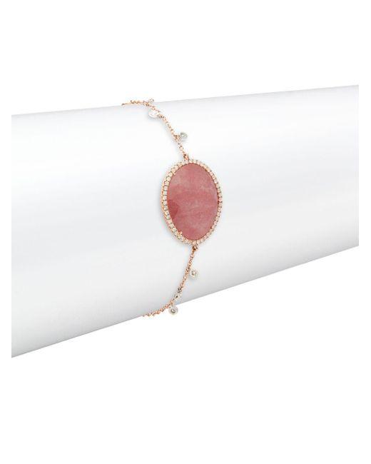 Meira T | Multicolor Diamond, Sapphire & 14k Rose Gold Bracelet | Lyst
