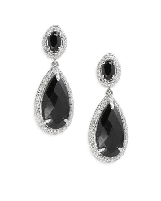Judith Ripka   Black Legacy Onyx & Sapphire Drop Earrings   Lyst