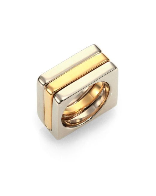 Chloé | Metallic Greta Square Ring Set | Lyst