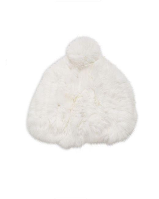 Surell | White Rabbit Fur Beanie | Lyst