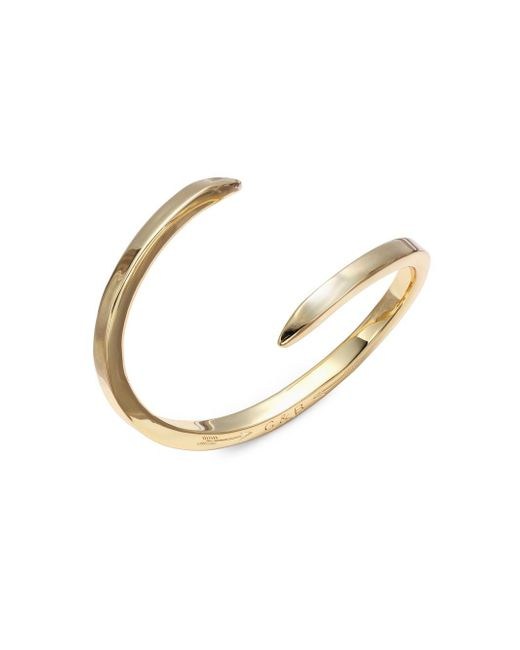 Giles & Brother | Metallic By Pass 14k Gold-plated Open Bangle Bracelet | Lyst