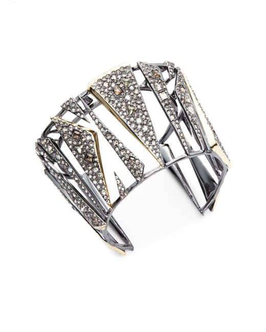 Alexis Bittar | Metallic Crystal-encrusted Hinged Cuff Bracelet | Lyst