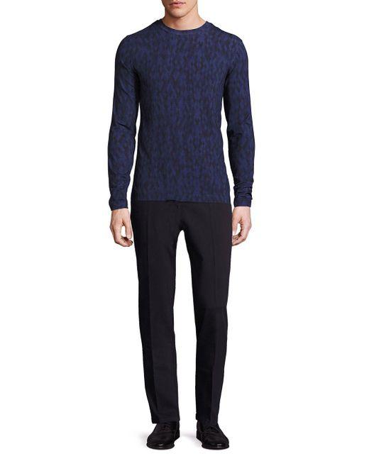 Giorgio Armani | Blue Multicolored Diamond-print Sweater for Men | Lyst