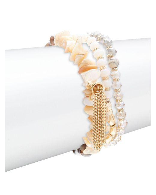 Noir Jewelry | Multicolor Layer Beaded Bracelet | Lyst