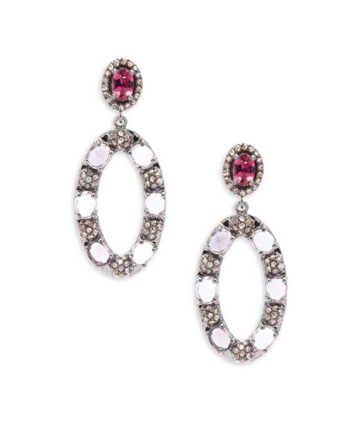 Bavna | Metallic Diamond Tourmaline & Sterling Silver Earrings | Lyst