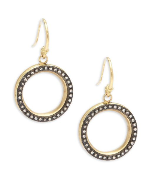 Armenta | Metallic Old World White Diamond & 18k Goldplated Sterling Silver Drop Earrings | Lyst