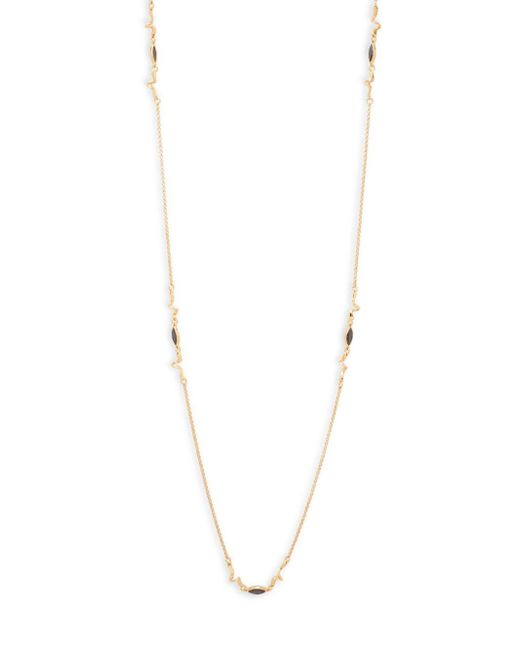 Eddie Borgo | Yellow Crystal Navette Chain Necklace | Lyst