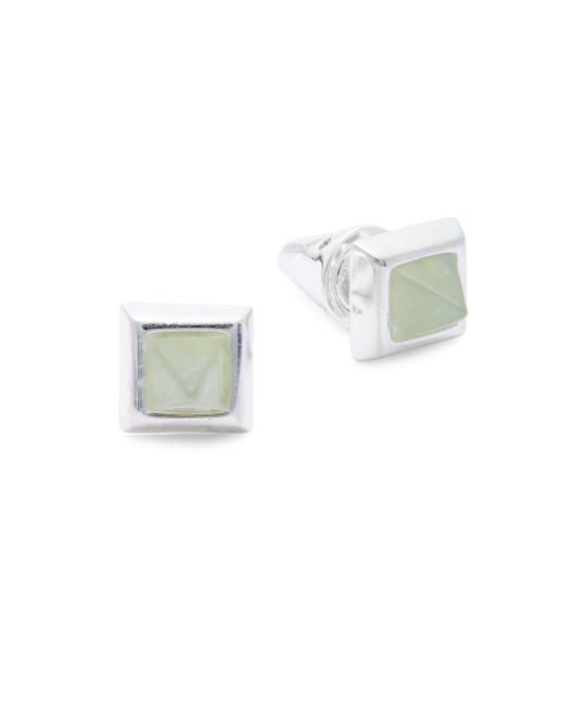 Eddie Borgo   Metallic Silver Pin Earrings   Lyst