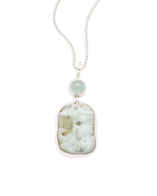 Stephen Dweck | White Imperial Jasper, Aquamarine & Sterling Silver Necklace | Lyst