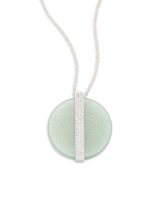 Swarovski | Metallic Crystal Embellished Pendant Necklace | Lyst