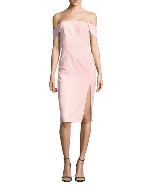 Jay Godfrey | Pink Sleeveless Off-the-shoulder Dress | Lyst