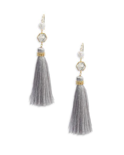 Panacea | Multicolor Goldtone Tassel Dangle & Drop Earrings | Lyst
