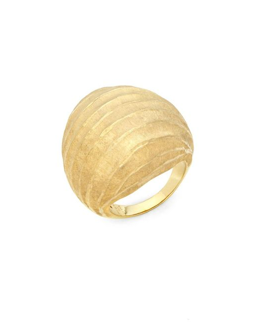 Roberto Coin | Metallic Textured Silver Dome Ring | Lyst