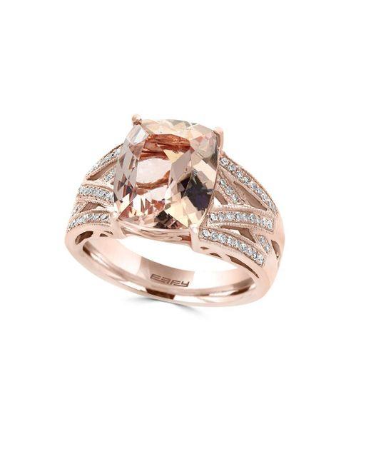 Effy | Metallic Diamond & Rose Gold Ring | Lyst