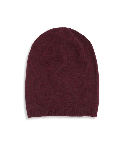 Saks Fifth Avenue | Purple Merino Wool Knitted Beanie for Men | Lyst