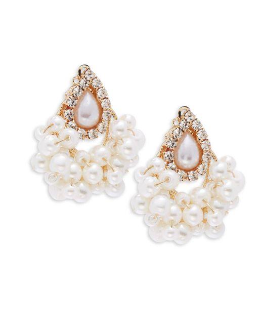 Saks Fifth Avenue | Metallic Drop Faux Pearl Earrings | Lyst