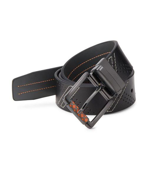 Robert Graham | Black Libyan Leather Belt for Men | Lyst