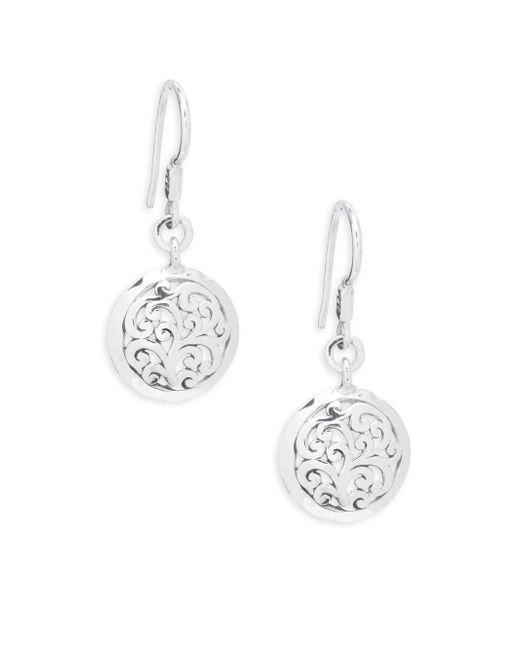 Lois Hill | Metallic Signature Open Scroll Drop Earrings | Lyst