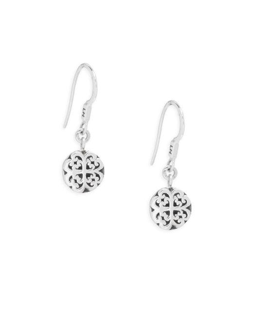Lois Hill | Metallic Small Geometric Scroll Drop Earrings | Lyst
