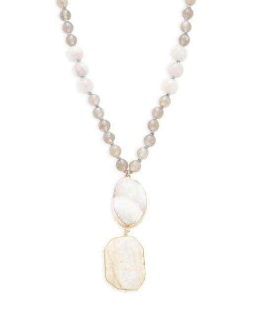 Panacea   Multicolor Stone Bead Pendant Necklace   Lyst