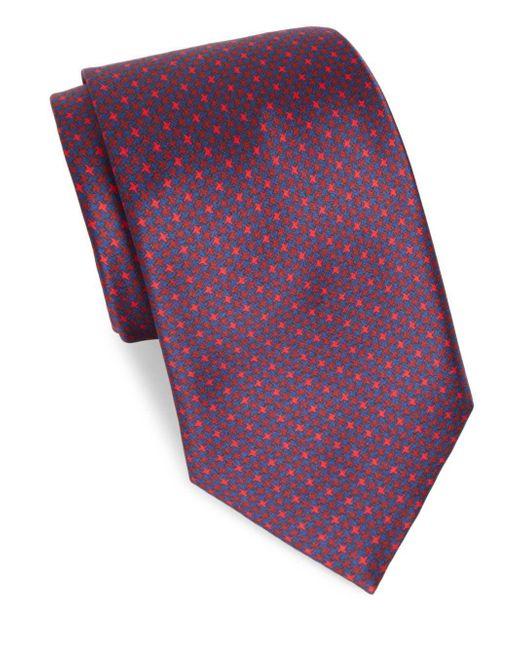 Brioni | Red Wine Houndstooth Silk Tie for Men | Lyst