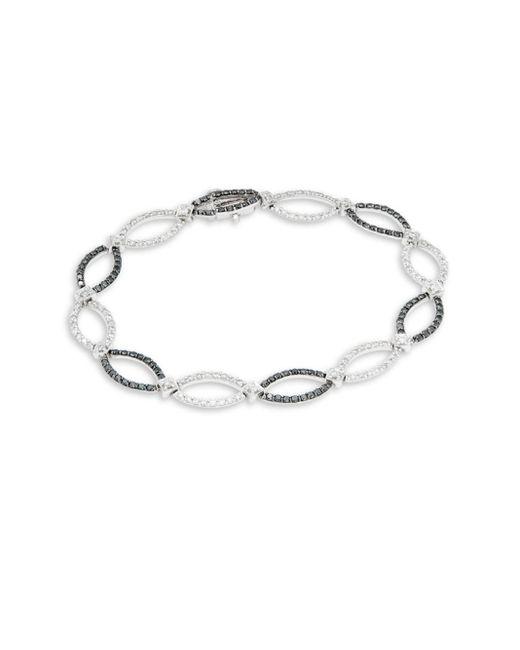 Effy | Metallic Diamond & 14k White Gold Solid Fill Bracelet | Lyst