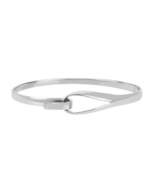 Diane von Furstenberg | Metallic Sculptural Wire Skinny Bangle Bracelet | Lyst