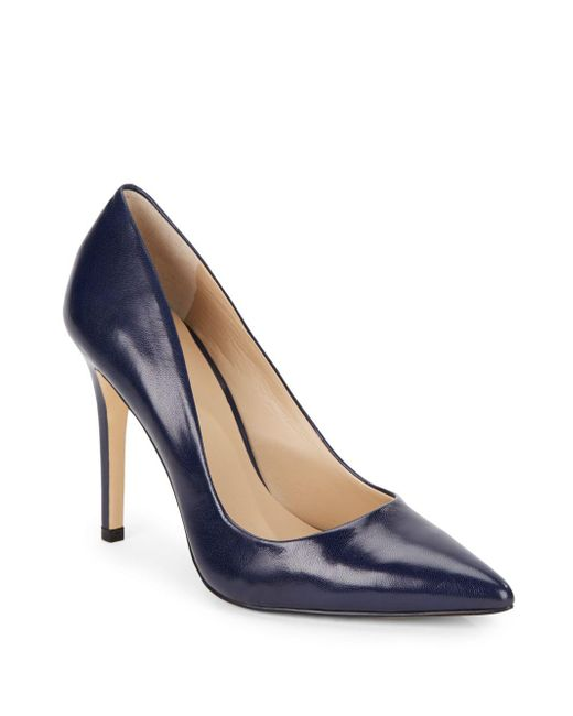 Saks Fifth Avenue | Blue Cathy Leather Pumps | Lyst