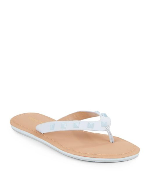 Rebecca Minkoff   Blue Studded Slip-on Sandals   Lyst