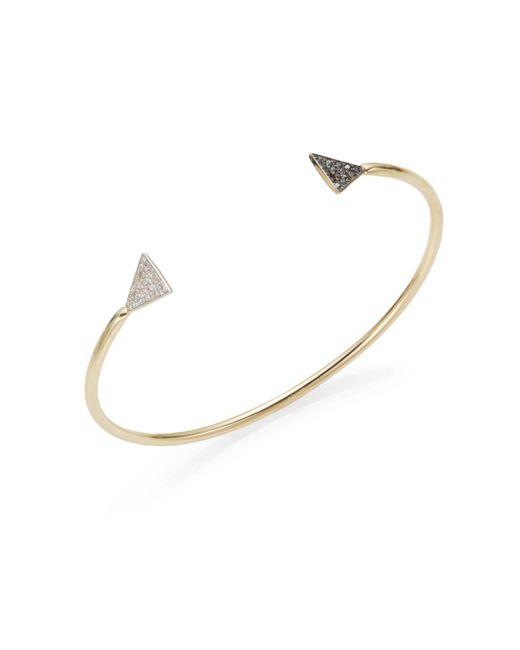 Kacey K Fine Jewelry | Metallic Element 0.15 Tcw White, Black Diamond & 14k Yellow Gold Arrowhead Bracelet | Lyst