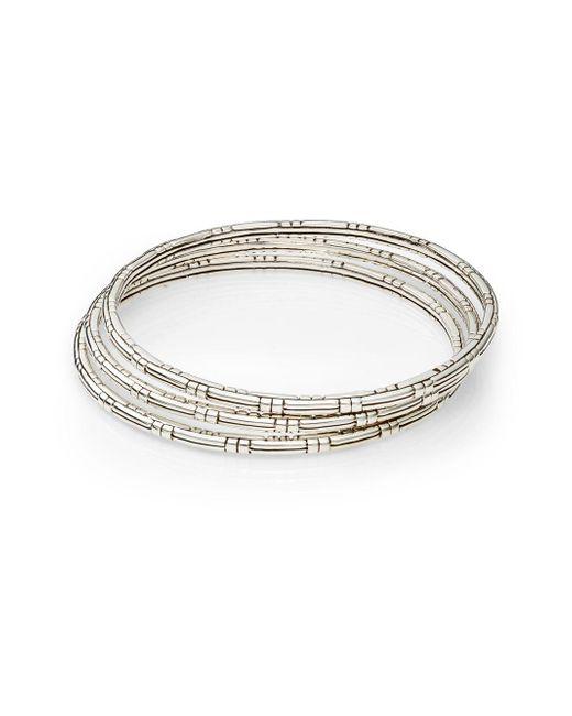 John Hardy | Metallic Bedeg Sterling Silver Slim Bracelet Set | Lyst