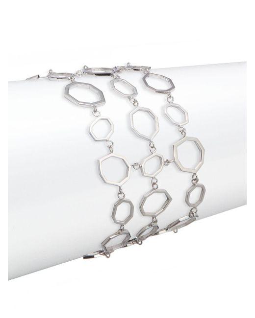 Ron Hami | Metallic Geo Sterling Silver Multi-chain Bracelet | Lyst