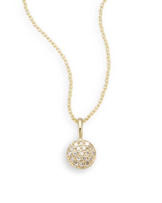 Saks Fifth Avenue | Metallic Diamond & 14k Yellow Gold Necklace | Lyst