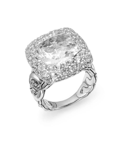 John Hardy | Metallic Batu Klasik Ring/white Topaz | Lyst