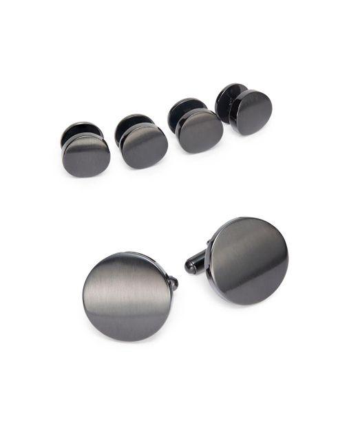 Saks Fifth Avenue | Metallic Cuff Link & Shirt Stud Set/gunmetal | Lyst