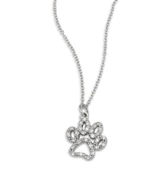 KC Designs - Metallic Diamond & 14k White Gold Pendant Necklace - Lyst