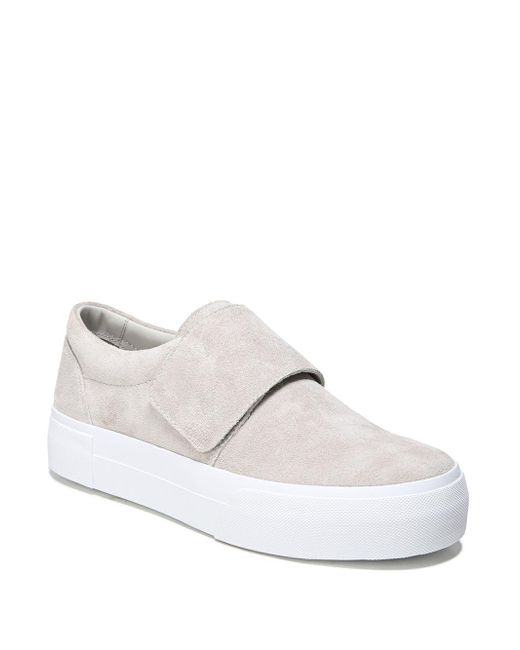 Vince - White Cage Suede Sneakers - Lyst