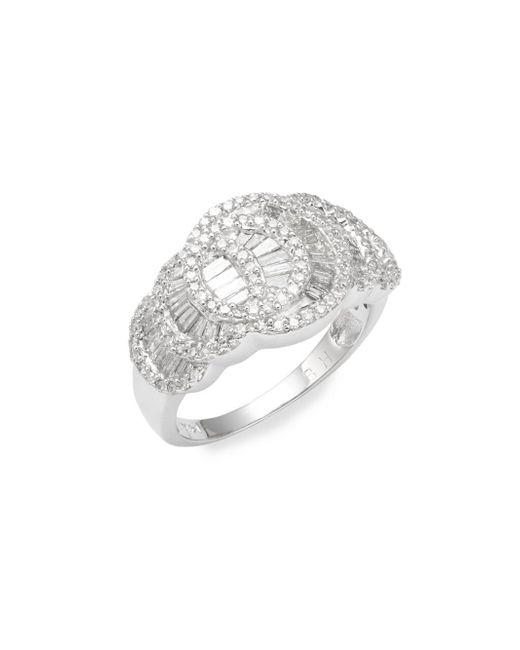 Effy - Metallic 14k White Gold & Baguette Diamond Ring - Lyst