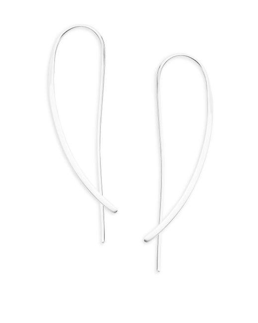 Saks Fifth Avenue - Metallic Sterling Silver Crossover Earrings - Lyst