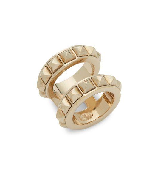 Valentino - Metallic Distressed Spike Ring - Lyst