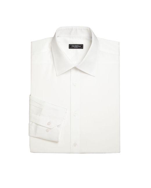 Saks Fifth Avenue White Regular-fit Dress Shirt for men