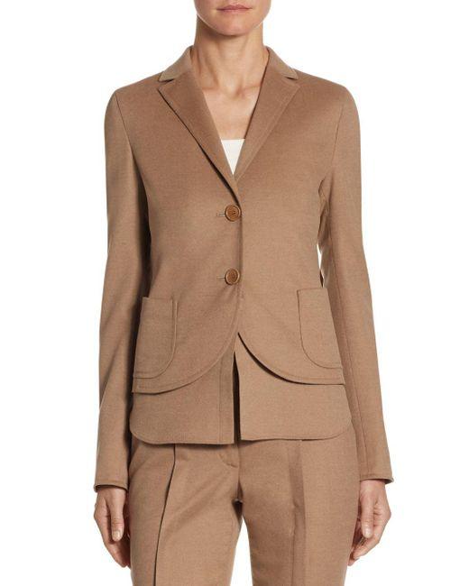 Akris Punto - Natural Wool Detachable Hem Jacket - Lyst