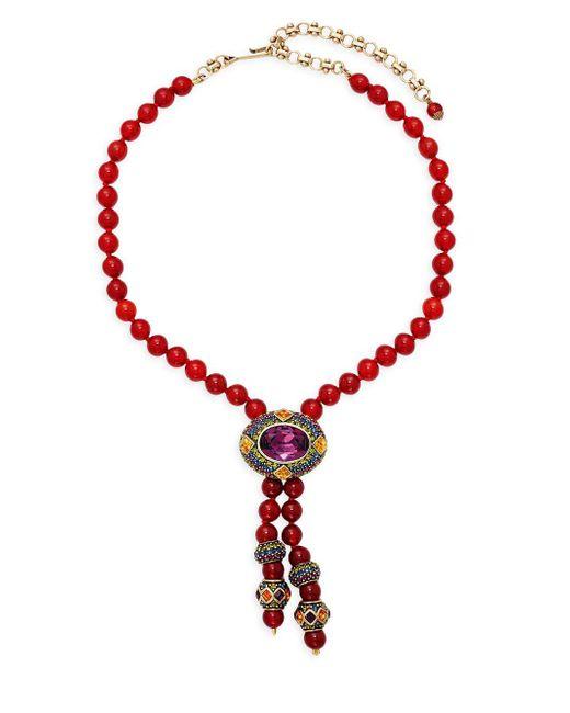 Heidi Daus - Metallic Oval Rhinestone Dangle Necklace - Lyst
