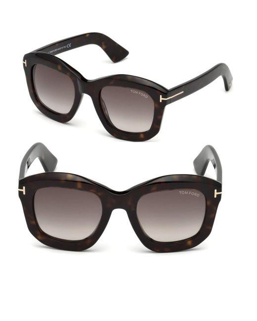 Tom Ford Brown Julia Square Sunglasses
