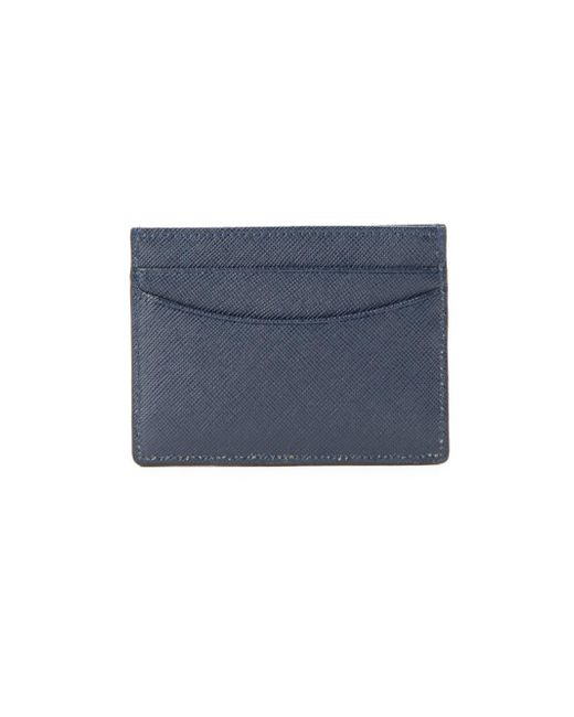 Saks Fifth Avenue - Blue Saffiano Leather Cardholder - Lyst