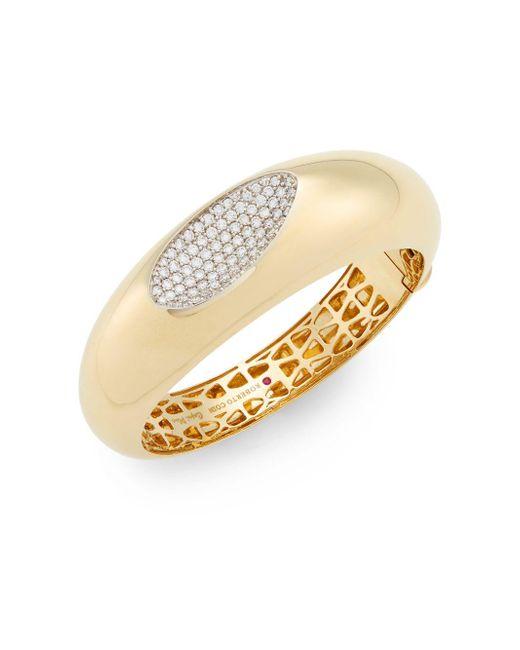 Roberto Coin | Metallic Capri Plus Diamond & 18k Yellow Gold Bracelet | Lyst