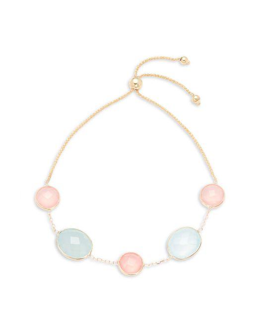 Saks Fifth Avenue - Pink 14k Gold & Chalcedony Stone Bracelet - Lyst