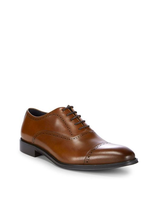 Kenneth Cole - Brown Classic Leather Oxfords for Men - Lyst