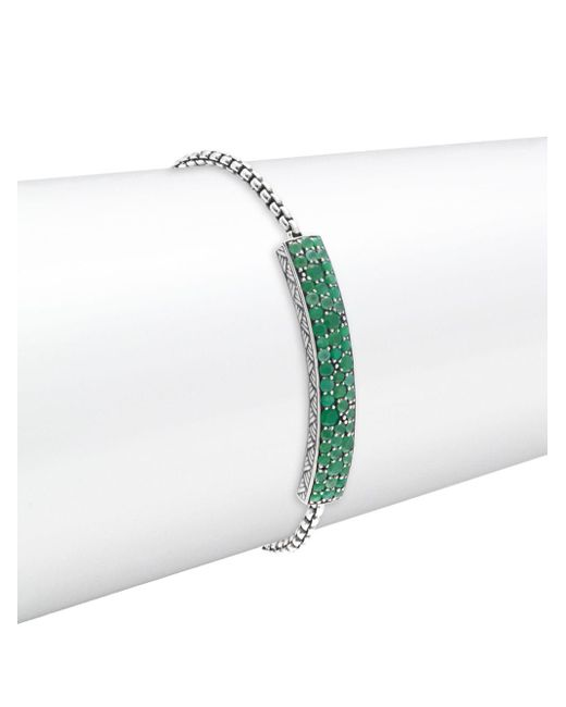 Stephen Dweck - Green Chrysoprase & Sterling Silver Bracelet - Lyst