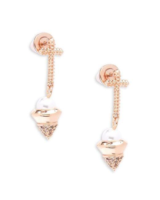 Eddie Borgo   Multicolor Trinity Pearl Dangle & Drop Earrings   Lyst
